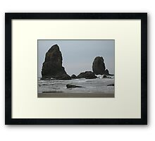 Outcropping off Cannon Beach Framed Print