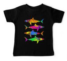 Colorful Sharks Baby Tee