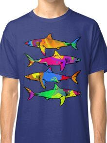 Colorful Sharks Classic T-Shirt