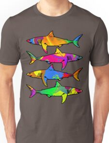 Colorful Sharks Unisex T-Shirt