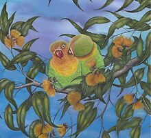 """Two Aussie Love Birds"" by Jules Summers"