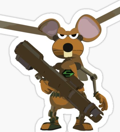 SuperMouse Helicopter 05b Sticker