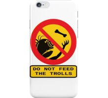 WARNING TROLLS iPhone Case/Skin