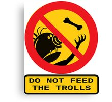 WARNING TROLLS Canvas Print