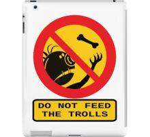 WARNING TROLLS iPad Case/Skin