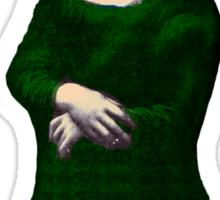 Mona Lisa Roller Skater Sticker