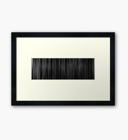 Moviebarcode: City That Never Sleeps (1953) Framed Print