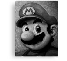 Portrait of an Italian Plumber Canvas Print
