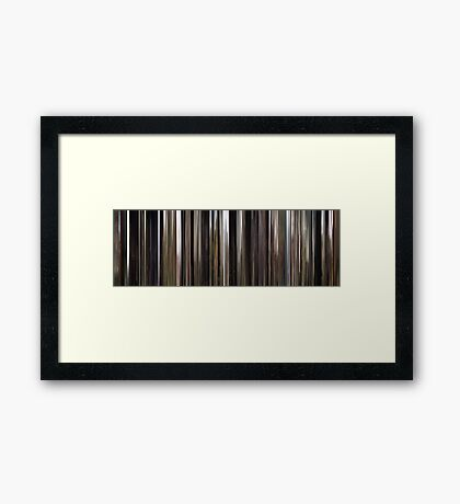 Moviebarcode: The Mill and the Cross (2011) Framed Print