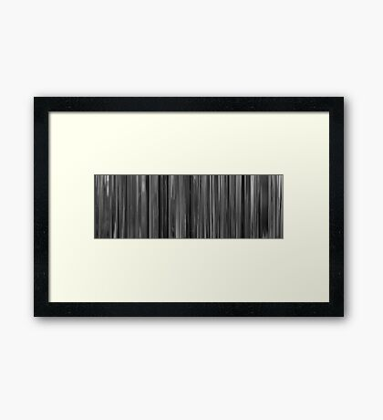 Moviebarcode: Les quatre cents coups (1959) Framed Print