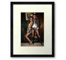 Victoria's Secret models Isabel Goulart and Alessandra Ambrosio Framed Print