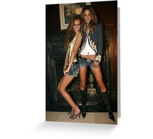 Victoria's Secret models Isabel Goulart and Alessandra Ambrosio Greeting Card