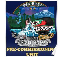 SSN-787 Pre-commissioning Unit Crest for Dark Colors Poster