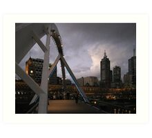 Arching over the Yarra Art Print