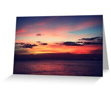 Glorious Oahu Sunset Greeting Card