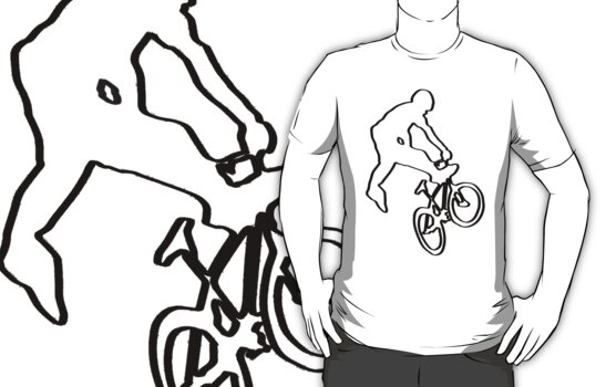 Bmx T-Shirt on lite by parko