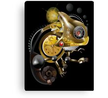 Clockwork Chameleon Canvas Print