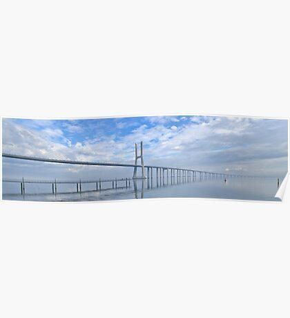 Vasco da Gama Bridge Panorama Poster
