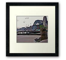 Behind Pier One, Sydney, Australia. Framed Print