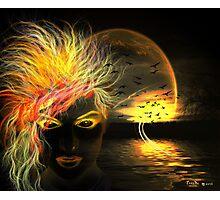 Dark Lake's Spirit Photographic Print