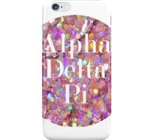 Alpha Delta Pi - Pink Glitter  iPhone Case/Skin