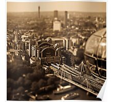 Tilt and shift from the London eye Poster
