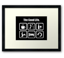 The Good Life Funny Volleyball  Framed Print