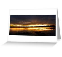 Golden Sunset. (30-1-12) Greeting Card
