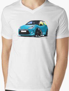 Citroen DS3 Blue (Black) Mens V-Neck T-Shirt