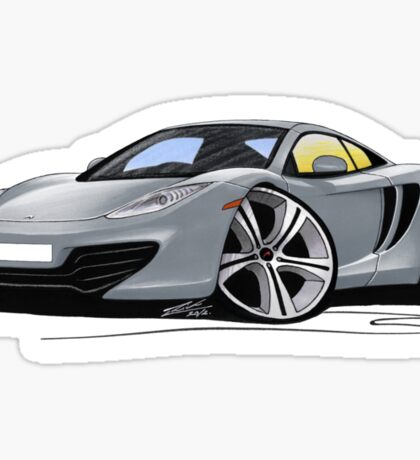 McLaren MP4-12c Silver Sticker