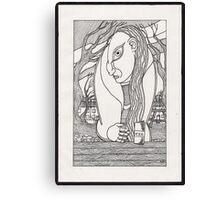 drunk woman Canvas Print