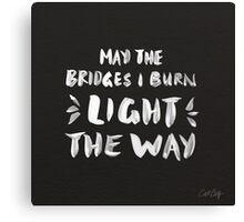 Burned Bridges – Black & White Canvas Print