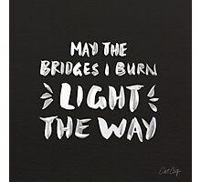 Burned Bridges – Black & White Photographic Print