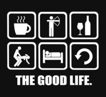 Coffee Archery Wine Sex Sleep Repeat Good Life by DesignMC