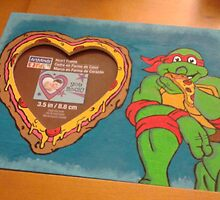 TMNT Hand painted frame by Tinalbion