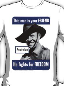 World War II Poster - US/Australian  T-Shirt