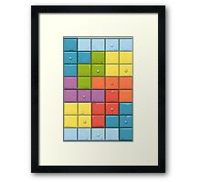 Tetris Boxes Framed Print