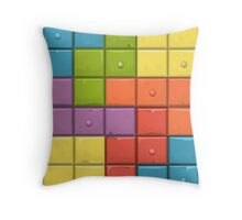 Tetris Boxes Throw Pillow