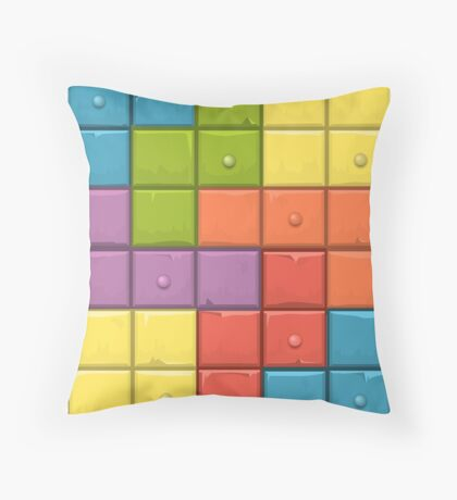 Tetris Boxes Throw Pillow