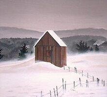 Shed in winter by Dan Wilcox