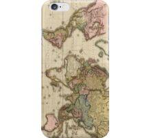 World Map (1812) iPhone Case/Skin