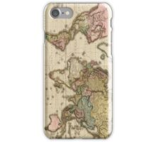 World Map (1812) iPhone Case/Skin