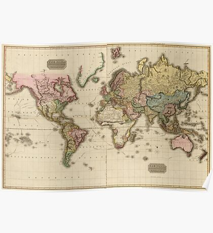 World Map (1812) Poster