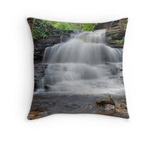 Tuscarora Falls - Ricketts Glen Throw Pillow