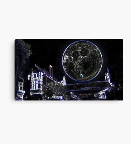 Full Moon On A Windy Night 2 Canvas Print