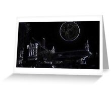Full Moon On A Windy Night  3 Greeting Card