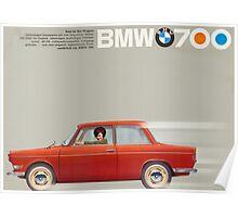 vintage BMW ad Poster