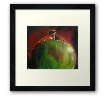 Red Green Apple Framed Print
