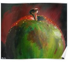 Red Green Apple Poster