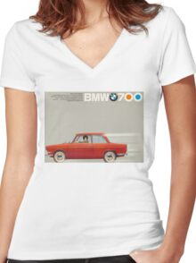 vintage BMW ad Women's Fitted V-Neck T-Shirt